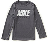 Nike Big Boys 8-20 Dri-FIT Long-Sleeve Football Tee