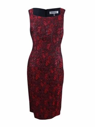 Kasper Women's Printed Jacquard Sheath Dress