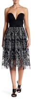 Nanette Lepore High Time Embroidered Mesh Skirt