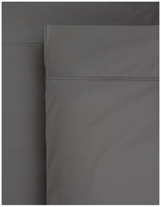Heritage 1000TC Finest Cotton Sateen Super King Size Sheet in Charcoal Charcoal Super