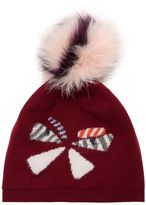 Fendi Wool Hat W/ Fox Fur Pompom