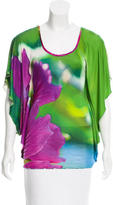 Roberto Cavalli Printed Scoop Neck Tunic