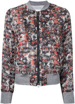 Roar flower detail bomber jacket