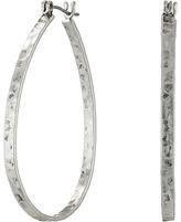 Lucky Brand Textured Medium Oblong Hoops Earring