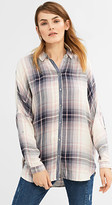 Esprit Flowing check blouse w batwing sleeves