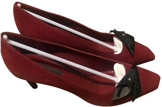 Louis Vuitton Red Suede Heels