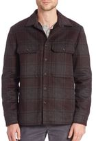 Vince Plaid Wool Blend Jacket