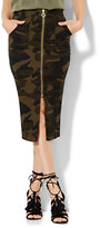 New York & Co. Soho Jeans Zip-Front Pencil Skirt - Camouflage Print