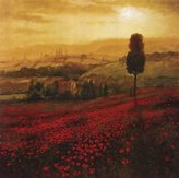 Bentley Shades Of Poppies Poster by Steve Thoms (24.00 x 24.00)