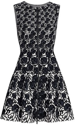 Alaia Fit-&-Flare Zip Front Dress