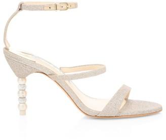 Sophia Webster Rosalind Embellished-Heel Glitter Sandals