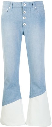 Each X Other Two-Tone Flared Jeans