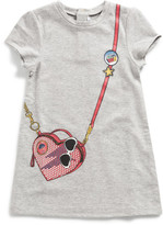 Little Marc Jacobs Girls Fleece Dress With Bag Print (2-10Y)