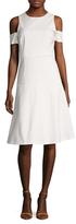 Ava & Aiden Cold Shoulder Flare Dress