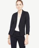 Ann Taylor Petite Pinstripe One Button Blazer