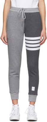 Thom Browne Grey Fun-Mix Classic Loopback 4-Bar Lounge Pants