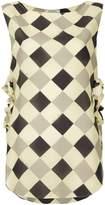 Nina Ricci diamond pattern tank top