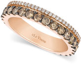 LeVian Le Vian Chocolate and White Diamond 2-Row Band (1-1/10 ct. t.w.) in 14k Rose Gold
