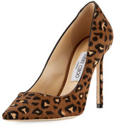 Jimmy Choo Romy Leopard Calf Hair Pump