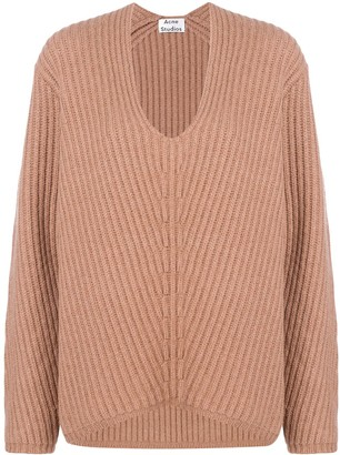 Acne Studios oversized V-neck jumper