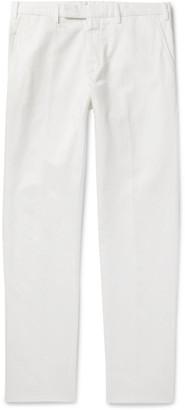 Ermenegildo Zegna Tapered Cotton And Linen-Blend Twill Trousers