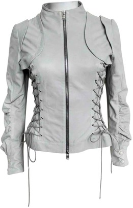 Jitrois Grey Leather Leather Jacket for Women