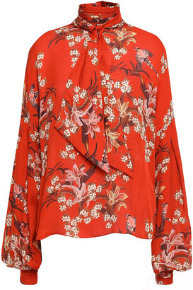 Johanna Ortiz La Recoleta Tie-neck Floral-print Silk Blouse