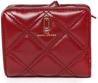 Marc Jacobs The Softshot Mini Berry Quilted Leather Wallet