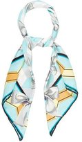 Tiffany & Co. Silk Abstract Printed Scarf