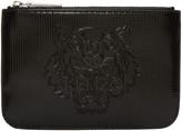 Kenzo Black Patent Tiger Pouch