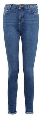 Dorothy Perkins Womens Dp Tall Blue Harper Denim Jeans, Blue