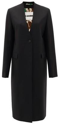 Jil Sander Single-breasted Wool-blend Coat - Black