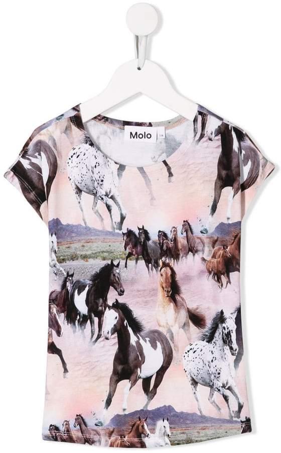 Molo Kids Wild Horses T-shirt