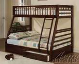 Acme Jason Espresso Twin Over Full Bunk Bed with Drawers