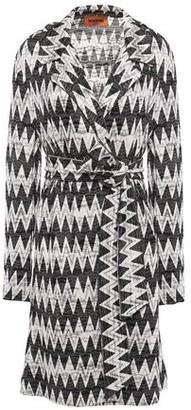 Missoni Belted Crochet-knit Jacket