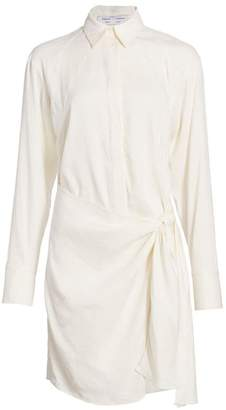 Proenza Schouler White Label Wrap Linen-Blend Shirtdress