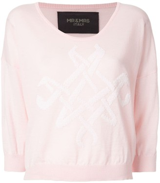 Mr & Mrs Italy logo knit sweater