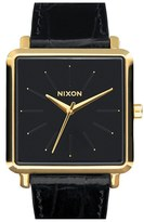 Nixon Women's 'The K Squared' Leather Strap Watch, 32Mm X 30Mm