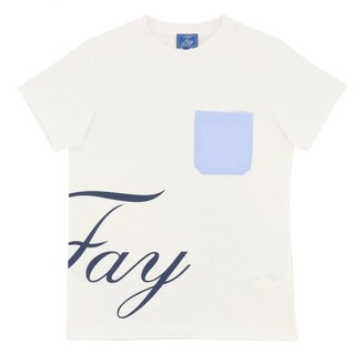 Fay Short-sleeved T-shirt With Patch Pocket And Logo