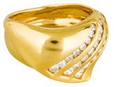 Damiani 18K Diamond Wave Ring
