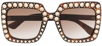 Gucci Crystal-Embellished Square-Frame Sunglasses