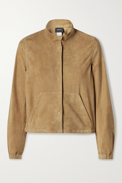 Thumbnail for your product : Akris Mabelle Suede Jacket - Tan