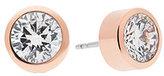 Michael Kors Round Crystal Stud Earrings