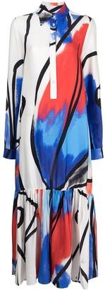 Stella Jean Abstract-Print Maxi Dress