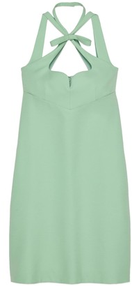 Gucci Wool silk heart neckline dress