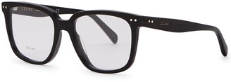 Celine Black wayfarer-style optical glasses