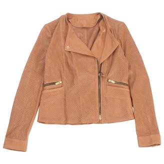 Hogan Brown Leather Jacket for Women