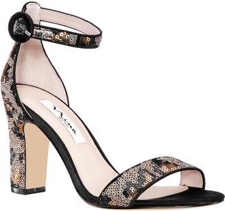 Nina Adjustable Block Heel Sequin Sandals - Sianna