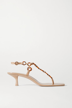Cult Gaia Caitlyn Embellished Leather Sandals - IT35
