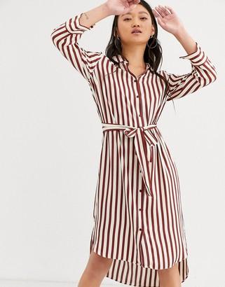 InWear Tamara stripe shirt dress